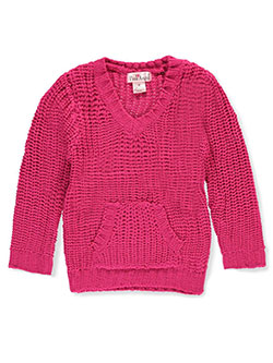 Pink Angel Little Girls' Toddler Cable Knit Sweater (Sizes 2T – 4T) - CookiesKids.com