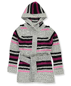 Pink Angel Little Girls' Toddler Hooded Cardigan (Sizes 2T – 4T) - CookiesKids.com