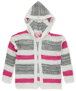 Pink Angel Little Girls' Hooded Cardigan (Sizes 4 – 6X) - CookiesKids.com