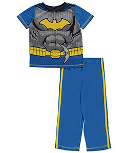 "Batman Little Boys' Toddler ""Honeycomb Suit"" 2-Piece Pajamas (Sizes 2T – 4T) - CookiesKids.com"