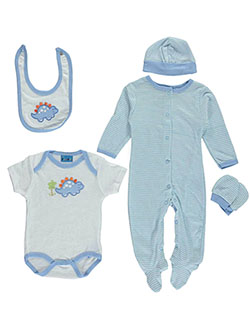 "Sweet & Soft Baby Boys' ""Stegosaurus"" 5-Piece Layette Set - CookiesKids.com"