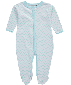 "Sweet & Soft Baby Girls' ""Electric Wave"" Footed Coverall - CookiesKids.com"