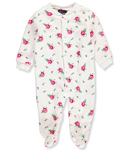 Sweet & Soft Baby Girls' Plush Footed Coverall - CookiesKids.com