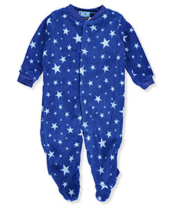 Sweet & Soft Baby Boys' Plush Footed Coverall - CookiesKids.com