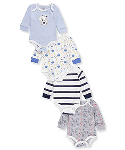 Quiltex Baby Boys' 4-Pack Footed Coveralls - CookiesKids.com