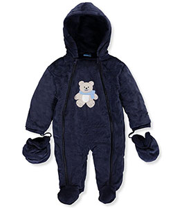 Sweet & Soft Baby Boys' 1-Piece Hooded Pram Suit - CookiesKids.com