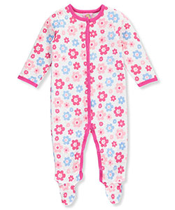 Sweet & Soft Baby Girls' Footed Coverall - CookiesKids.com