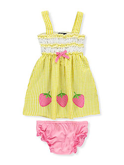 Sweet & Soft Baby Girls' Dress with Diaper Cover - CookiesKids.com