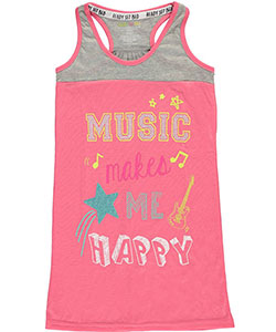 "PJ Licious Big Girls' ""Music Makes Me Happy"" Nightgown (Sizes 7 – 16) - CookiesKids.com"