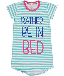 "PJ Licious Big Girls' ""Rather Be in Bed"" Nightgown (Sizes 7 – 16) - CookiesKids.com"