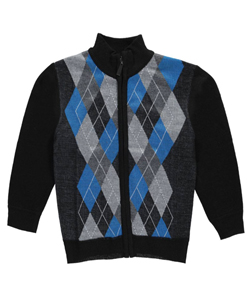 "American Legend Outfitters Little Boys' ""Argyle Access"" Zip-Up Sweater (Sizes 4 – 7) - CookiesKids.com"