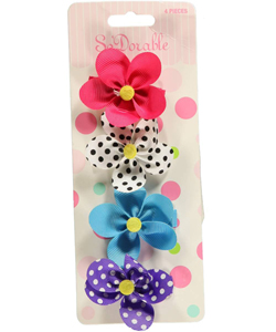 "So'dorable ""Grosgrain"" 4-Pack Barrettes - CookiesKids.com"
