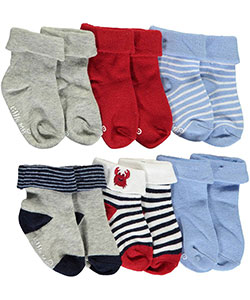 "Little Me Baby Boys' ""Essential Stripes"" 6-Pack Socks - CookiesKids.com"