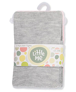 Little Me Baby Girls' 2-Pack Tights - CookiesKids.com