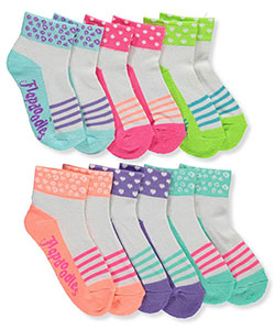 Flapdoodles Girls' 6-Pack Quarter Crew Socks - CookiesKids.com