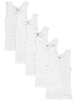 Hanes Little Boys' Toddler 5-Pack Tagless Tanks (Sizes 2T - 4T) - CookiesKids.com