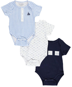 "Harry & Violet Baby Boys' ""Paper Airplanes"" 3-Pack Bodysuits - CookiesKids.com"