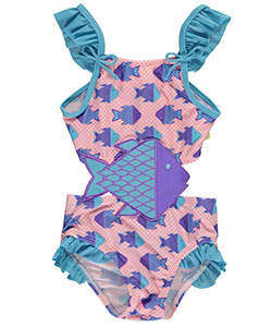 "Sol Swim Baby Girls' ""Flutter Fins"" 1-Piece Swimsuit - CookiesKids.com"