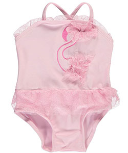 "Sol Swim Baby Girls' ""Flamingo Ballerina"" 1-Piece Swimsuit - CookiesKids.com"