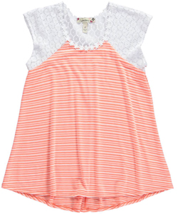 "Speechless Big Girls' ""Daisy Stripes"" Top (Sizes 7 – 16) - CookiesKids.com"