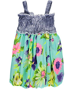 "S. Square Baby Girls' ""Chambray & Tropical Blossoms"" Dress - CookiesKids.com"