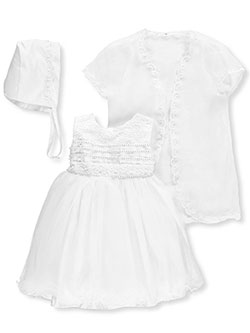 "S. Square Baby Girls' ""Gem Strings"" 3-Piece Christening Outfit - CookiesKids.com"
