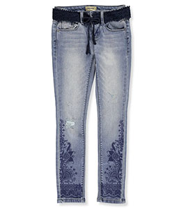 Squeeze Big Girls' Belted Skinny Jeans (Sizes 7 – 16) - CookiesKids.com