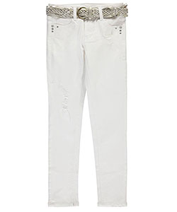 "Wallflower Big Girls' ""Trendy Glamour"" Belted Jeans (Sizes 7 – 16) - CookiesKids.com"