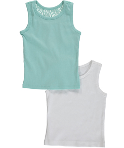 "Freestyle Revolution Little Girls' Toddler ""Lace One"" 2-Pack Tank Tops (Sizes 2T – 4T) - CookiesKids.com"