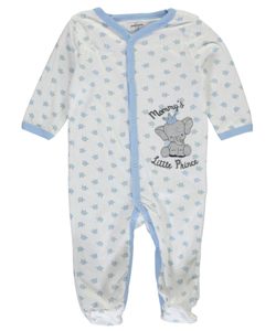 "Quiltex Baby Boys' ""Mommy's Little Prince"" Footed Coverall - CookiesKids.com"