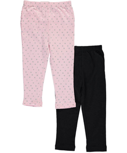"Freestyle Revolution Baby Girls' ""Ruffled Hearts"" 2-Pack Leggings - CookiesKids.com"