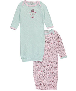 "Quiltex Baby Girls' ""Little Kitty"" 2-Pack Gowns - CookiesKids.com"