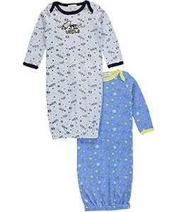 "Quiltex Baby Boys' ""Space Adventure"" 2-Pack Gowns - CookiesKids.com"