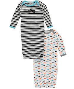 "Quiltex Baby Boys' ""Motorbikes"" 2-Pack Gowns - CookiesKids.com"