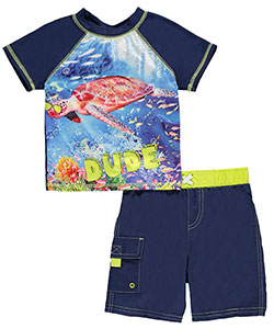 "Baby Buns Baby Boys' ""Turtle Dude"" 2-Piece Swim Set - CookiesKids.com"
