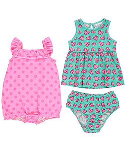 "Freestyle Revolution Baby Girls' ""Dotted Hearts"" Dress and Romper Set - CookiesKids.com"