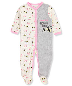 Quiltex Baby Girls' Footed Coverall - CookiesKids.com