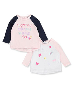 Quiltex Baby Girls' 2-Pack Raglan Shirts - CookiesKids.com