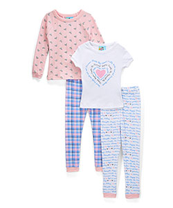 Bunz Kidz Little Girls' 4-Piece Sleep Set (Sizes 4 – 6X) - CookiesKids.com