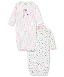 Quiltex Baby Girls' 2-Pack Gowns - CookiesKids.com