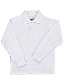 Universal Unisex L/S Pique Polo (Sizes 4 - 7) - CookiesKids.com
