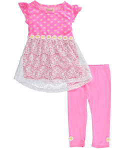"Colette Lilly Little Girls' Toddler ""Daisy Decoration"" 2-Piece Outfit (Sizes 2T – 4T) - CookiesKids.com"