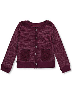 "One Step Up Little Girls' Toddler ""Lace Kissed"" Cardigan (Sizes 2T – 4T) - CookiesKids.com"