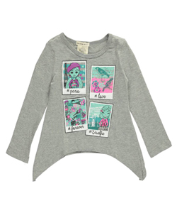 "One Step Up Little Girls' Toddler ""Parisian Snapshots"" Top (Sizes 2T – 4T) - CookiesKids.com"