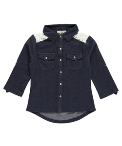 "One Step Up Little Girls' Toddler ""Western Gems"" Button-Down (Sizes 2T – 4T) - CookiesKids.com"