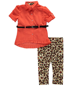 "One Step Up Baby Girls' ""Touch of Glitter"" 2-Piece Outfit - CookiesKids.com"