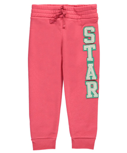"One Step Up Little Girls' ""Block-Lettered Star"" Joggers (Sizes 4 – 6X) - CookiesKids.com"