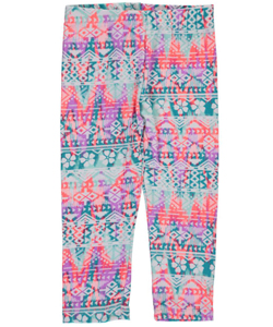 "One Step Up Little Girls' Toddler ""Shamrock Glitch"" Leggings (Sizes 2T – 4T) - CookiesKids.com"
