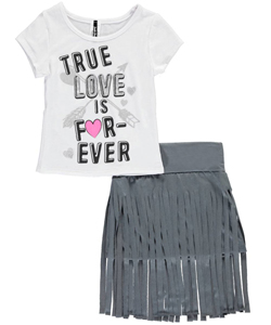 "Insta Girl Big Girls' ""True Love Is Forever"" 2-Piece Outfit (Sizes 7 – 16) - CookiesKids.com"