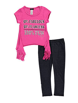 "XOXO Big Girls' ""100% Fun"" 2-Piece Outfit (Sizes 7 – 16) - CookiesKids.com"
